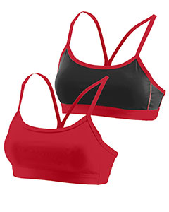 Augusta Drop Ship 2416 - Girls Wicking Poly Span Reversible Bra
