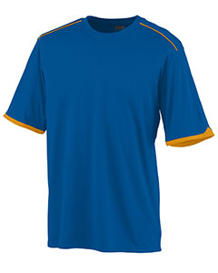 Augusta Drop Ship 5043 - Adult Wicking Polyester Short Sleeve Tee Shirt with Contrast Piping