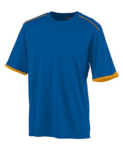 Augusta Drop Ship 5044 - Youth Wicking Polyester Short Sleeve Tee Shirt with Contrast Piping