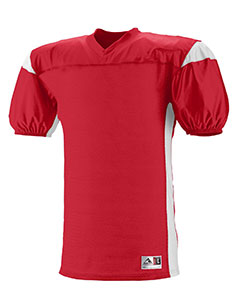 Augusta Drop Ship 9521 - Youth Polyester Diamond Mesh V-Neck Jersey with Contrast Dazzle Inserts