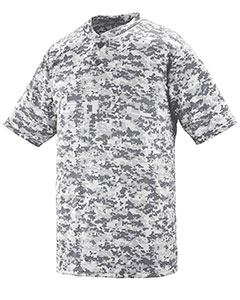 Augusta Sportswear 1556 - Youth Polyester Digi Print Two-Button Short-Sleeve Jersey
