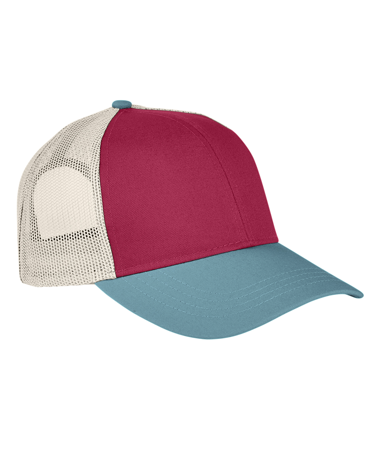 Authentic Pigment AP1919 - Tri-Color Trucker Cap
