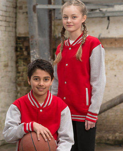 AWDis JHY043 - JUST Hoods Youth Letterman Jacket