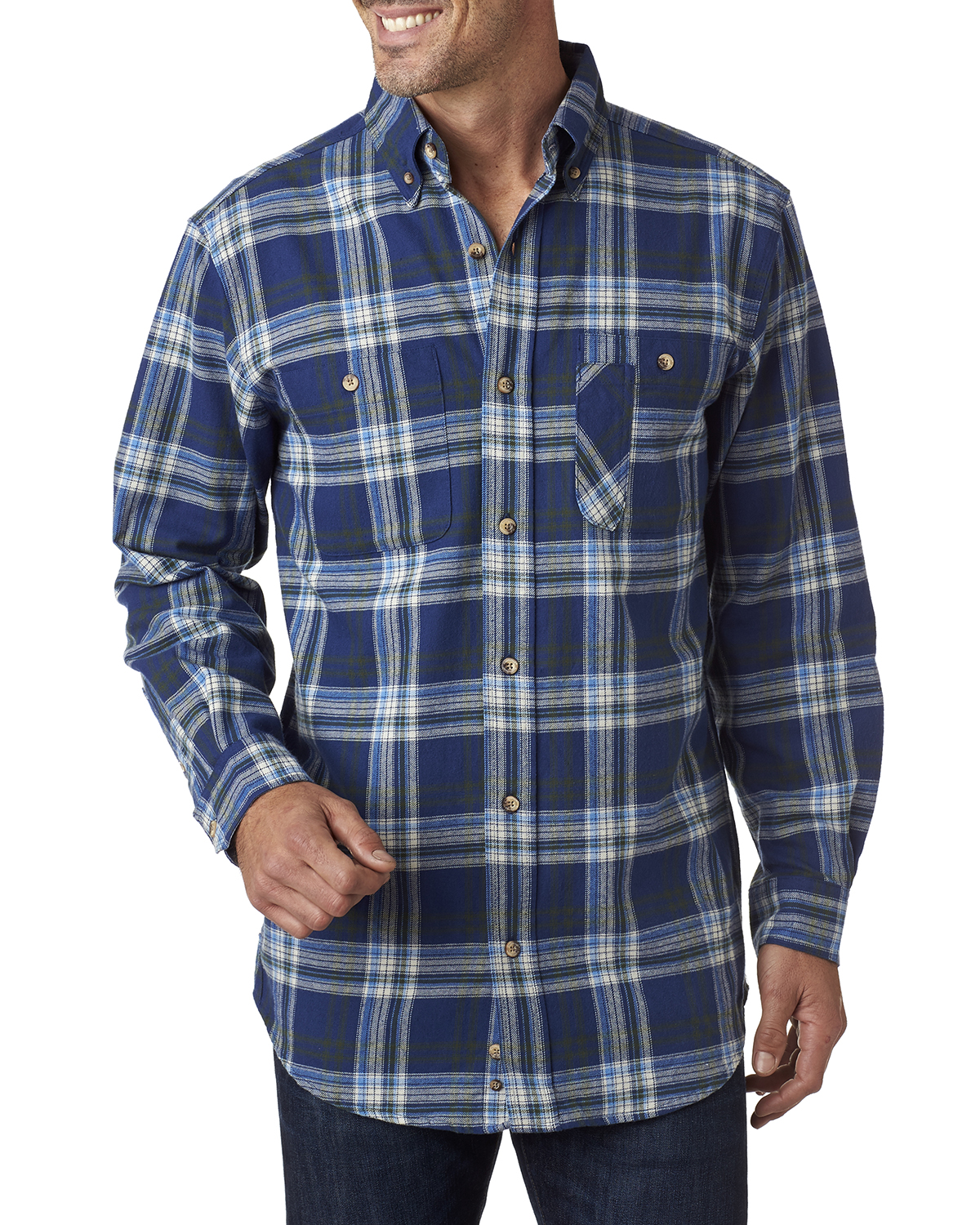 Backpacker BP7001 - Men's Yarn-Dyed Flannel Shirt