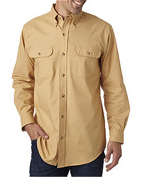 Backpacker BP7005 - Men's Solid Flannel Shirt