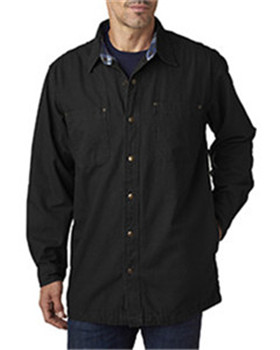 Backpacker BP7006 - Men's Canvas Shirt Jacket with Flannel ...