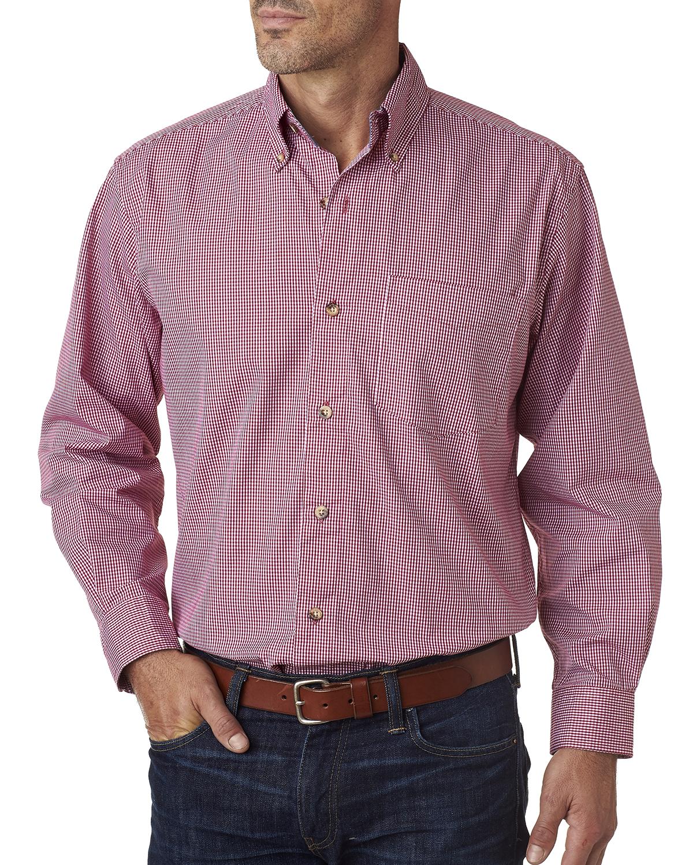 Backpacker BP7011 - Men's Yarn-Dyed Micro-Check Woven Shirt