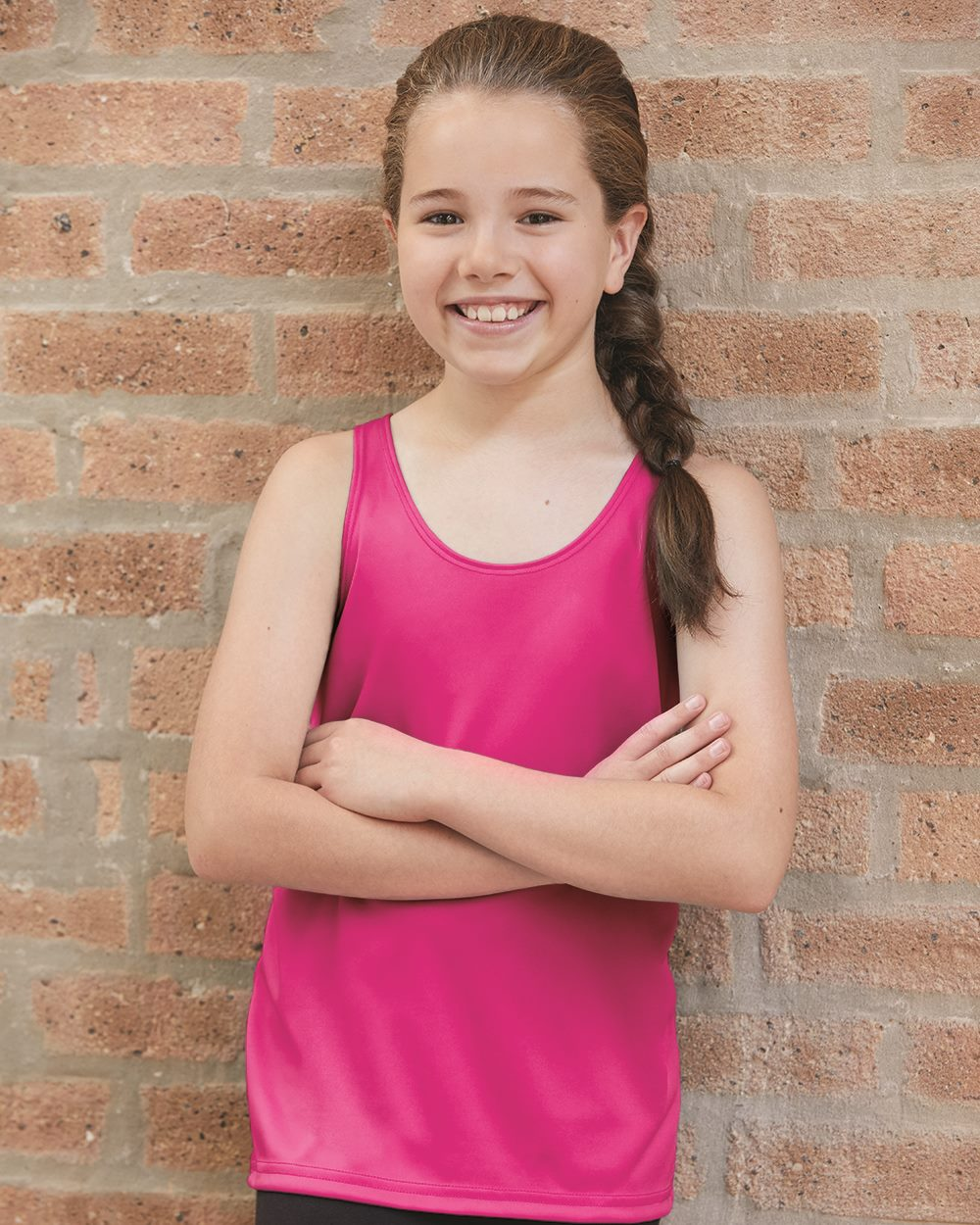 Badger 2166 - B-Core Girls' Racerback Tank Top