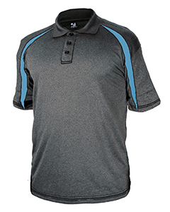 Badger 3347 - Adult Fusion Three Button Polyester Polo ...
