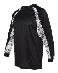 Badger 4155 - Digital Camo Hook Long Sleeve Tee Shirt