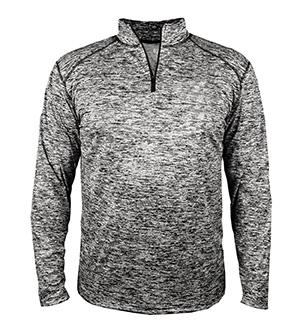 BADGER BD4192 - BLEND ADULT QUARTER ZIP LONG SLEEVE ...