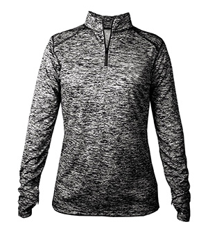 BADGER BD4193 - BLEND LADIES' QUARTER ZIP LONG SLEEVE ...