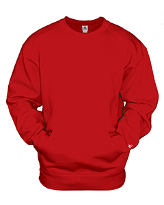 Badger Sport 1252 - Adult Athletic Fleece Pocket Crew