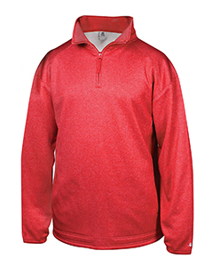 Badger Sport 1483 - Adult Pro Heathered Fleece 1/4 Zip Sweatshirt