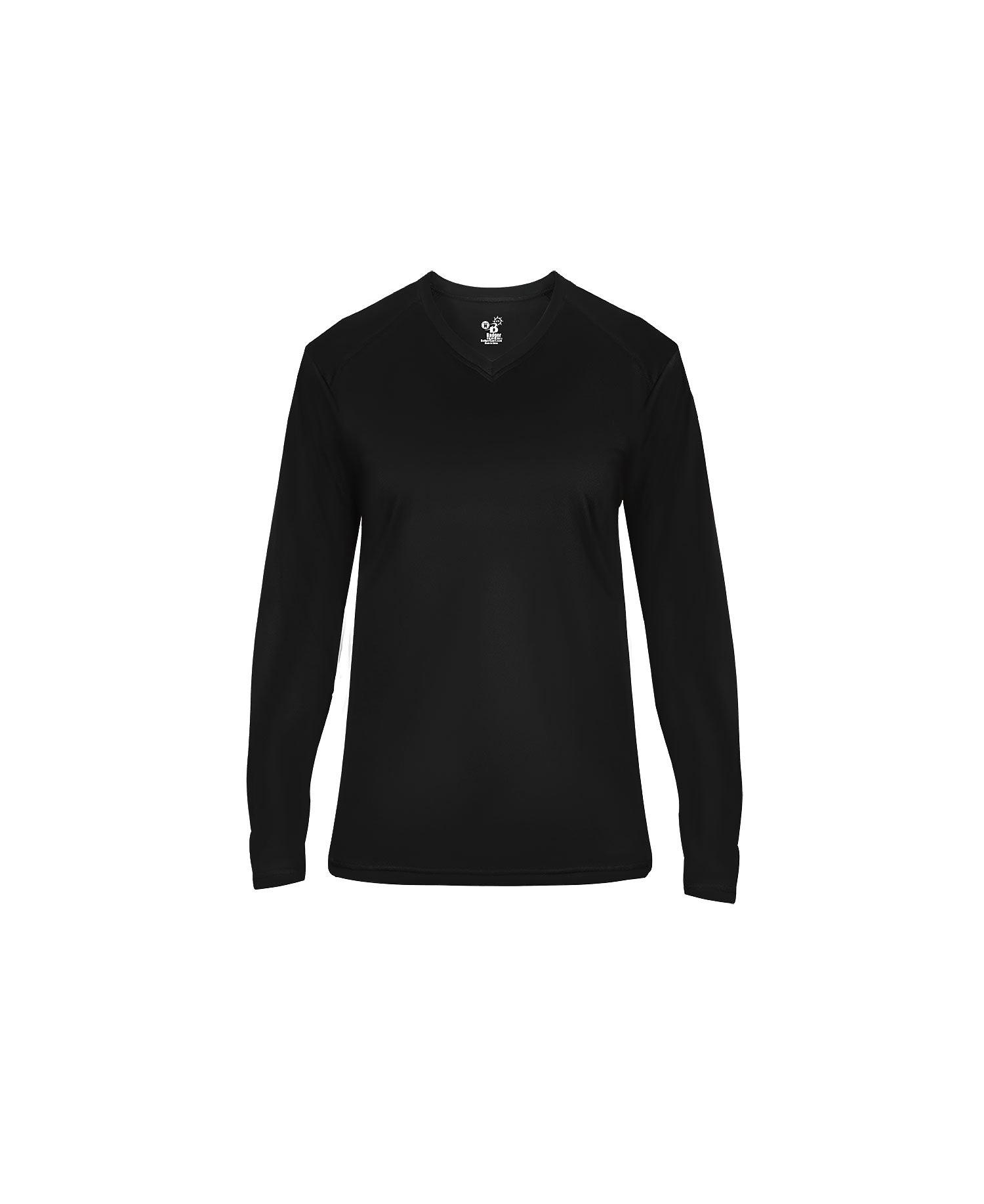 Badger Sport 4064 - Ladies Ultimate V-Neck Long Sleeve ...