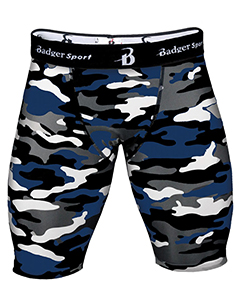 Badger Sport B4609 - Men's Camo 8 Compression Shorts