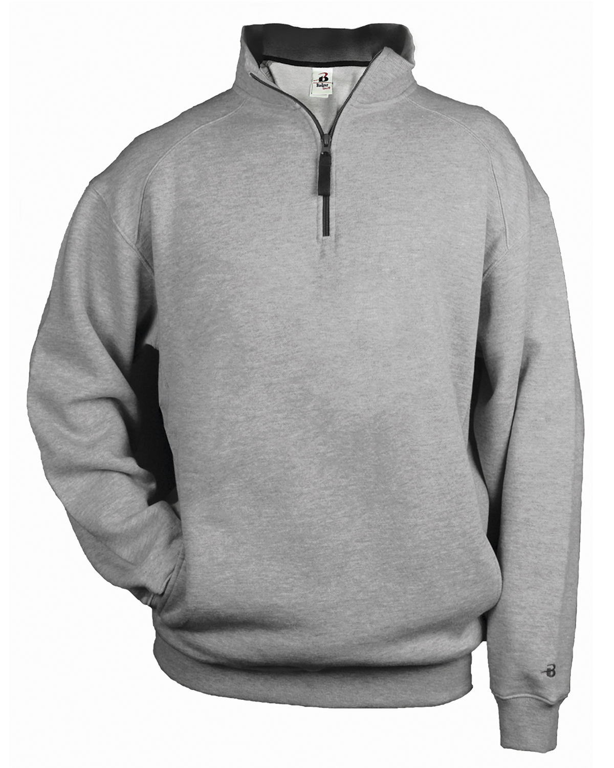 Quarter Zip Fleece Kangaroo Pocket - from $14.74