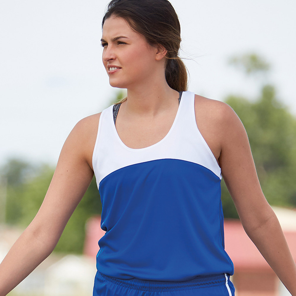 Badger Sport 4136 - Double Back Ladies' Racerback Tank
