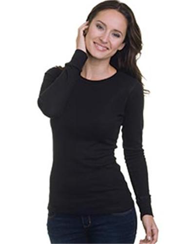 Bayside 3420 - Ladies Long Sleeve Thermal