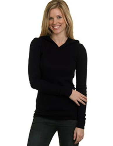 Bayside 3425 - Ladies Soft Thermal Hoodie