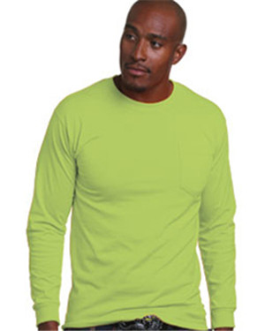 Bayside BA1730 - Adult Long Sleeve Tee with Pocket
