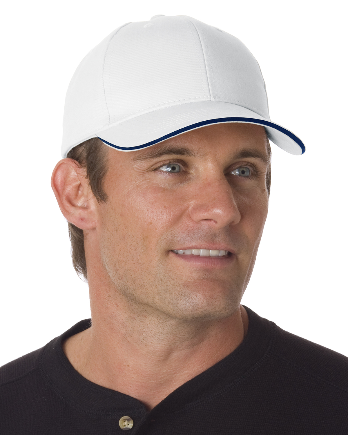 Bayside BA3621 - Brushed Twill Structured Sandwich Cap