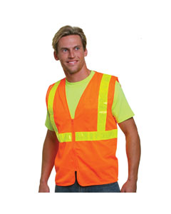 Bayside BA3780 - Mesh Safety Vest - Orange