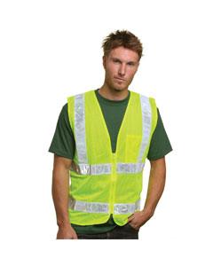 Bayside BA3785 - Mesh Safety Vest - Lime