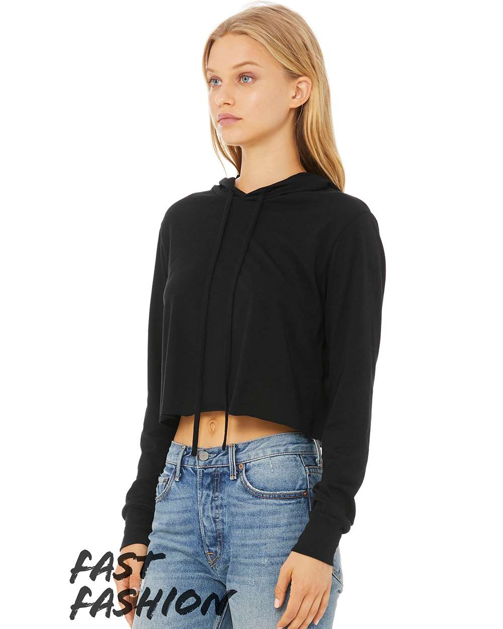 Bella+Canvas 8512 - Womens Triblend Cropped Long Sleeve Hoodie