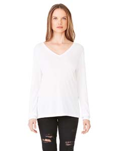 Bella + Canvas 8855 - Ladies' Long Sleeve Flowy V Neck