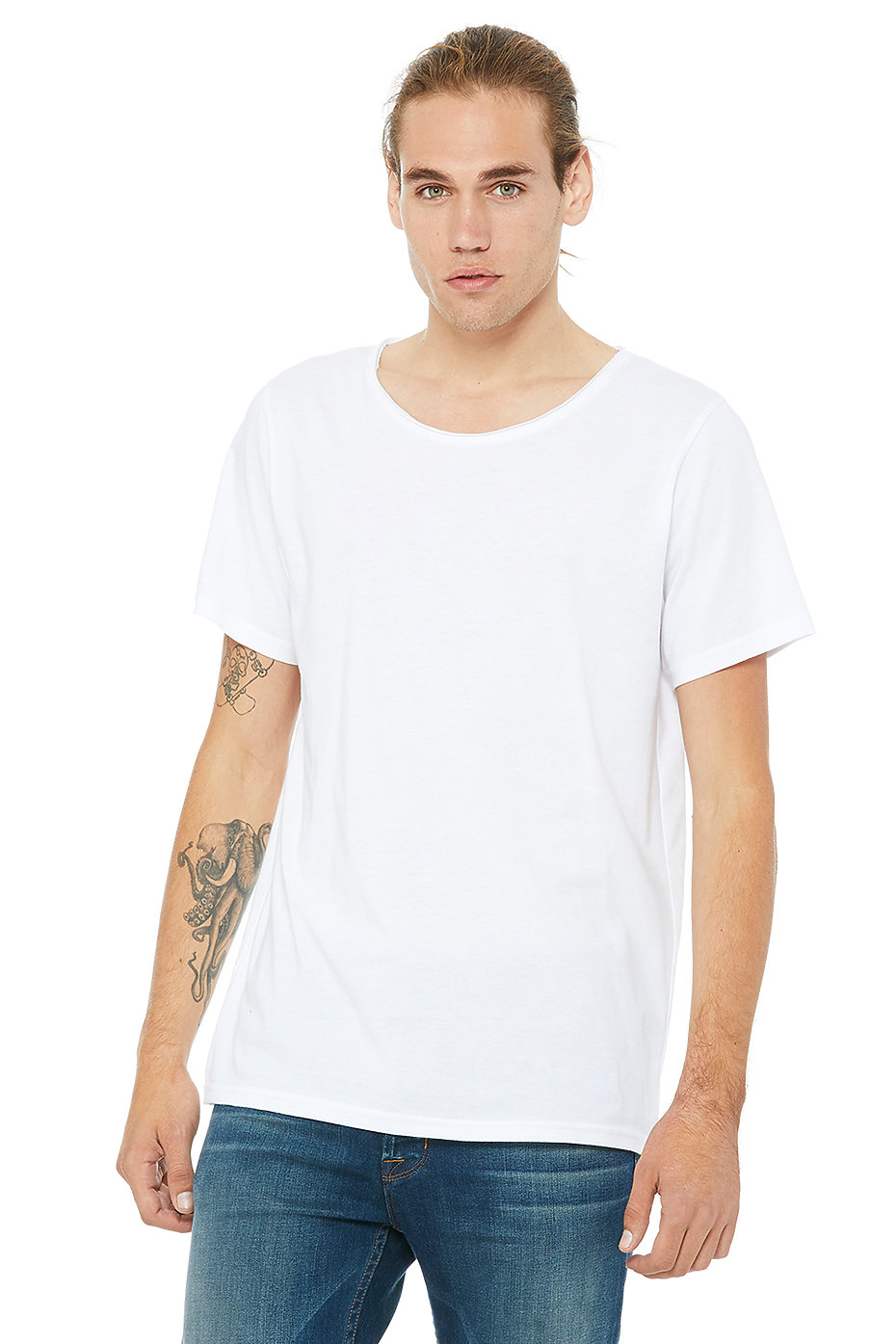 Bella + Canvas 3014 - Men's Jersey Raw Neck Tee