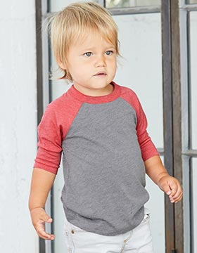 Bella + Canvas 3200T - Toddler Three-Quarter Sleeve Baseball Tee