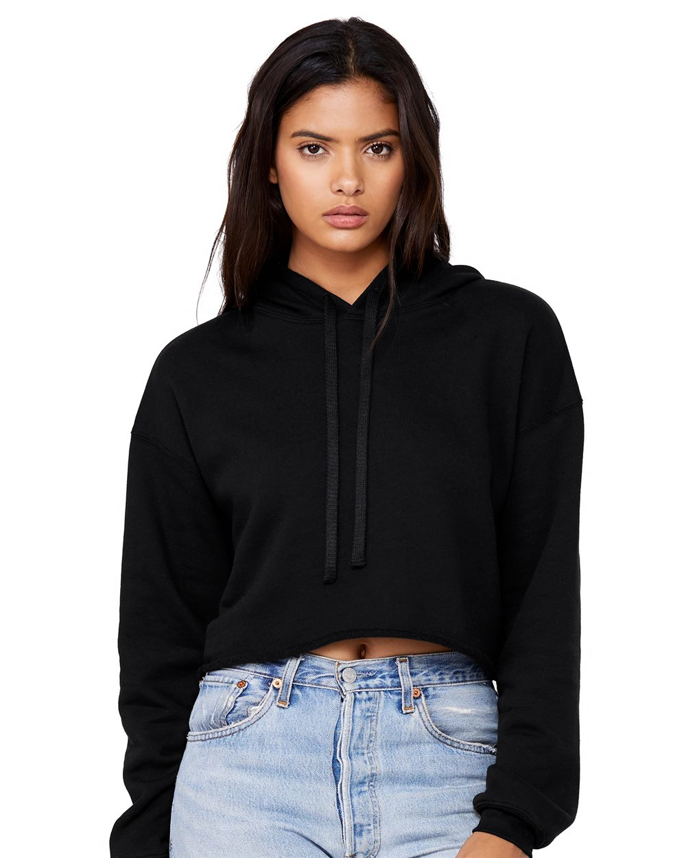 Bella + Canvas 7502 - Women's Cropped Fleece Hoodie
