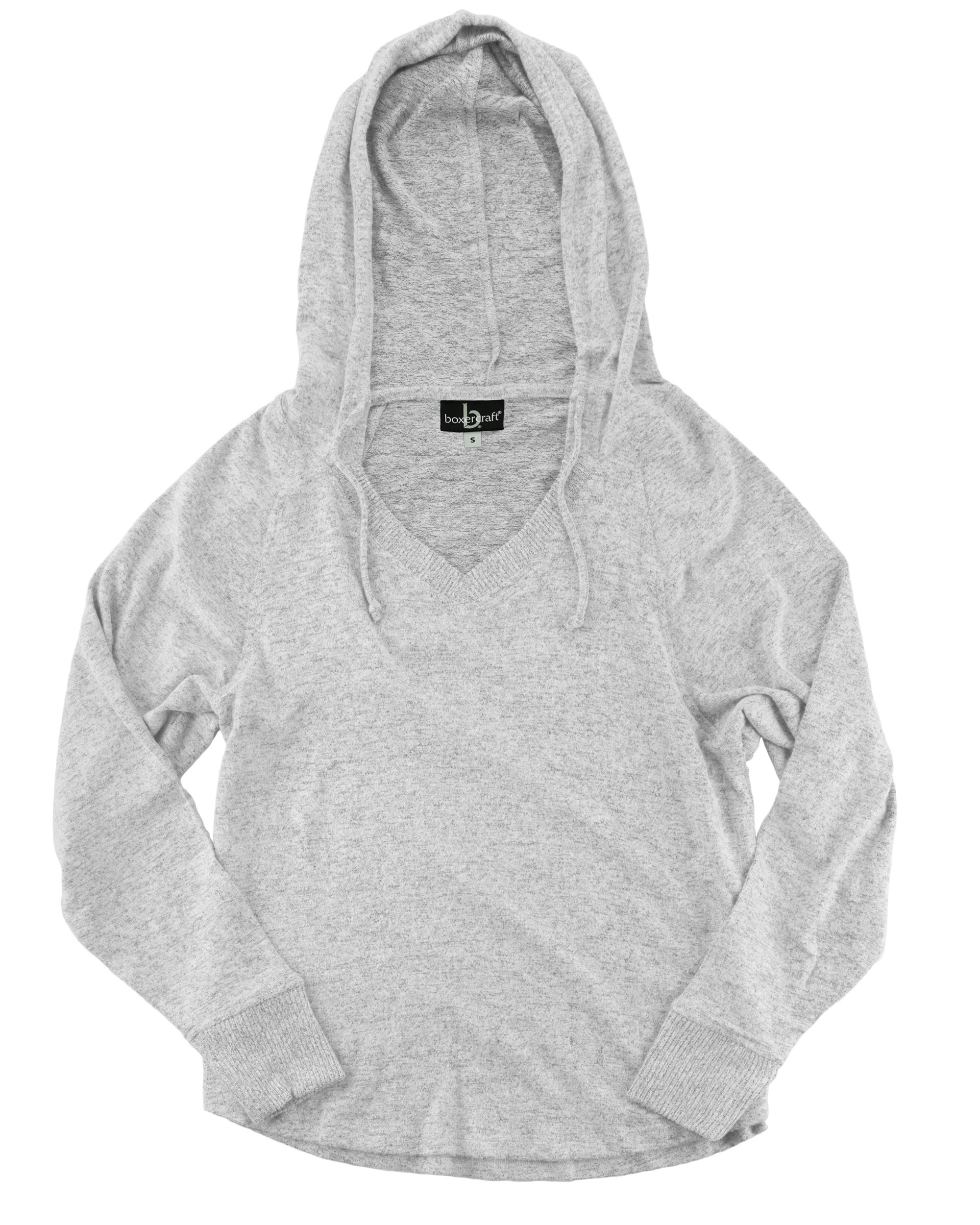 Boxercraft L07 - Women's Cuddle Fleece V-Neck Hooded ...