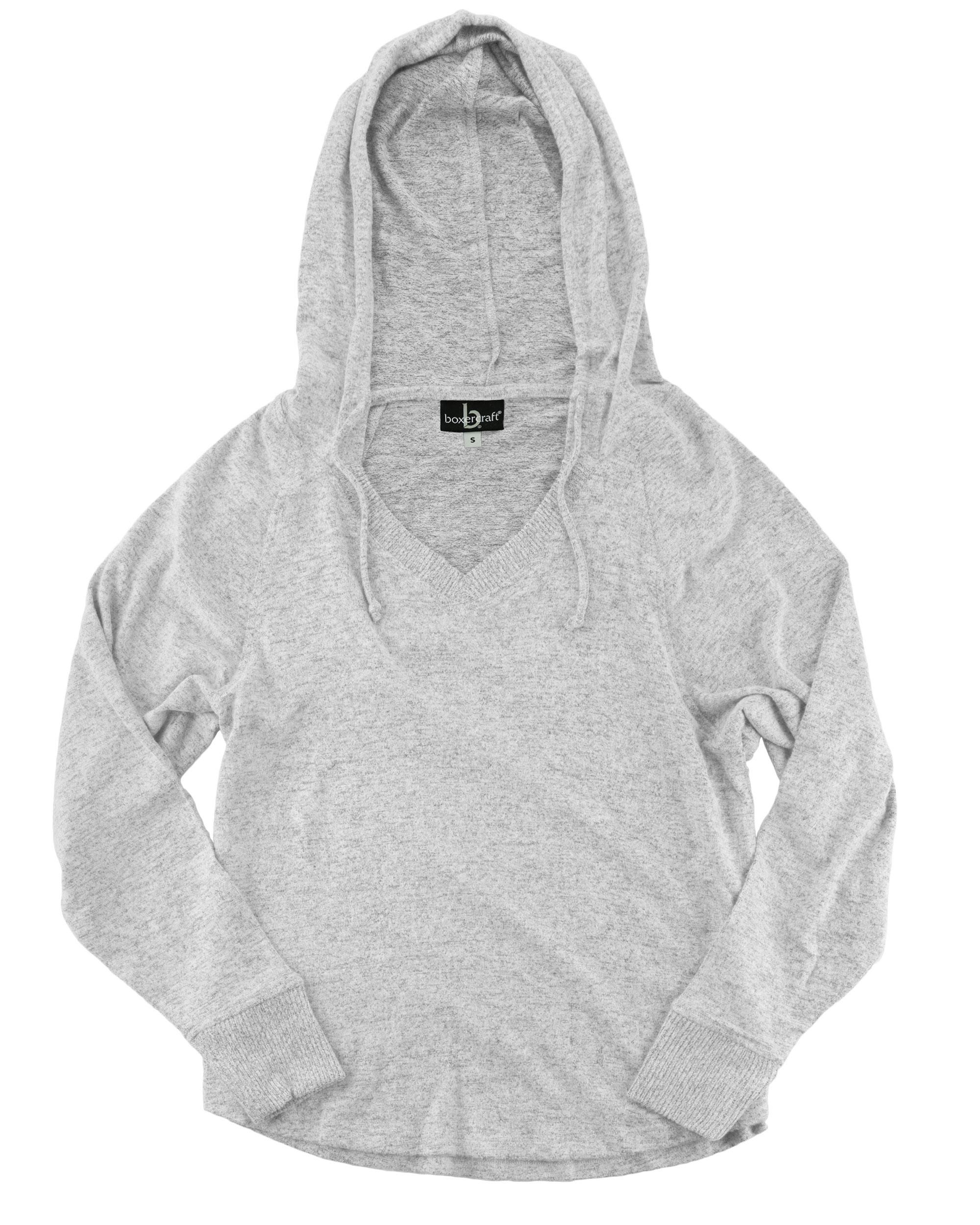 Boxercraft L07 - Women's Cuddle Fleece V-Neck Hooded ...