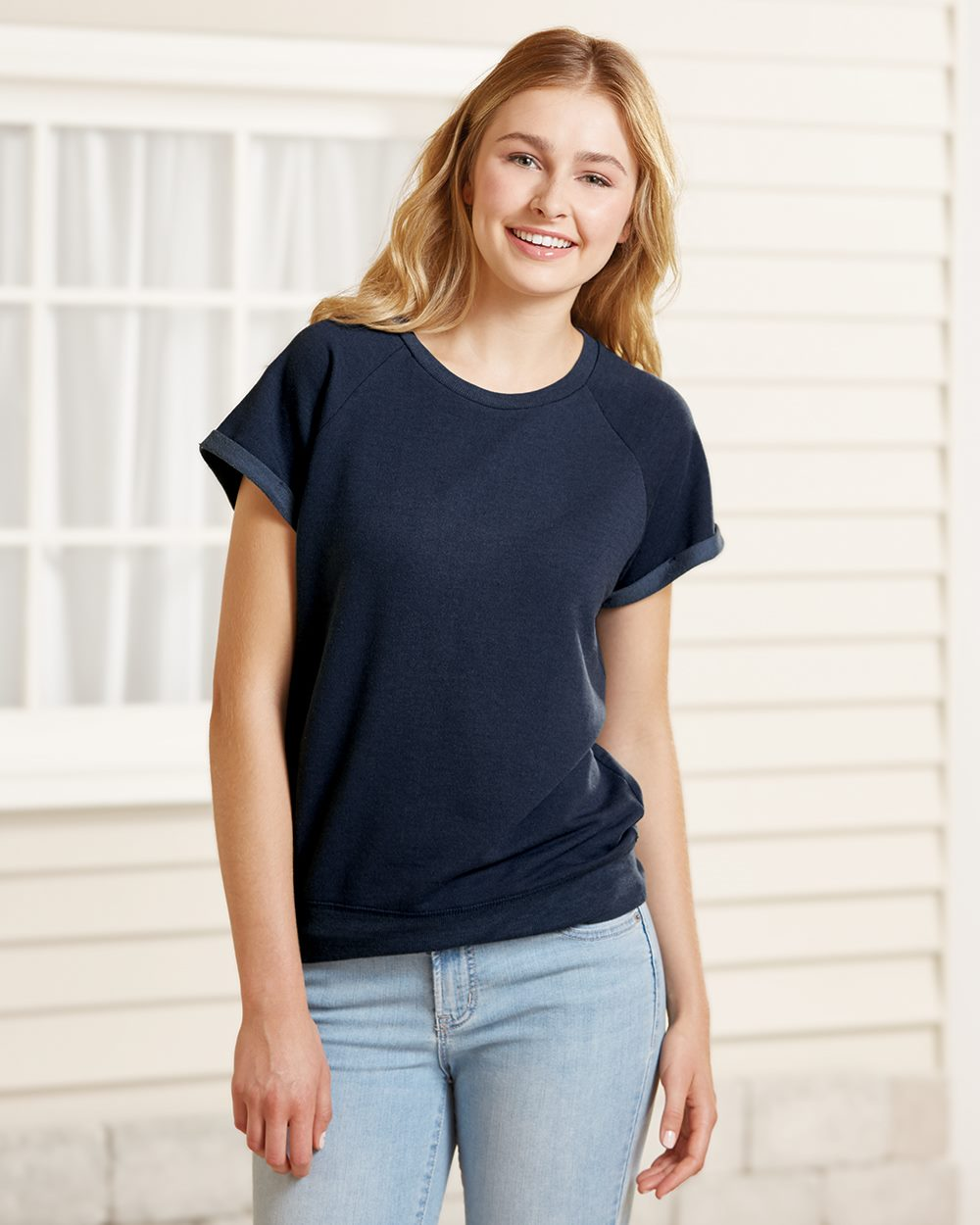 Boxercraft R32 - Women's Sweetheart French Terry Short Sleeve Pullover