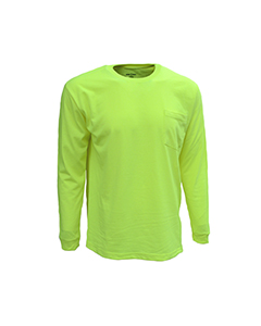 Bright Shield B146 - Adult Long-Sleeve Pocket Tee