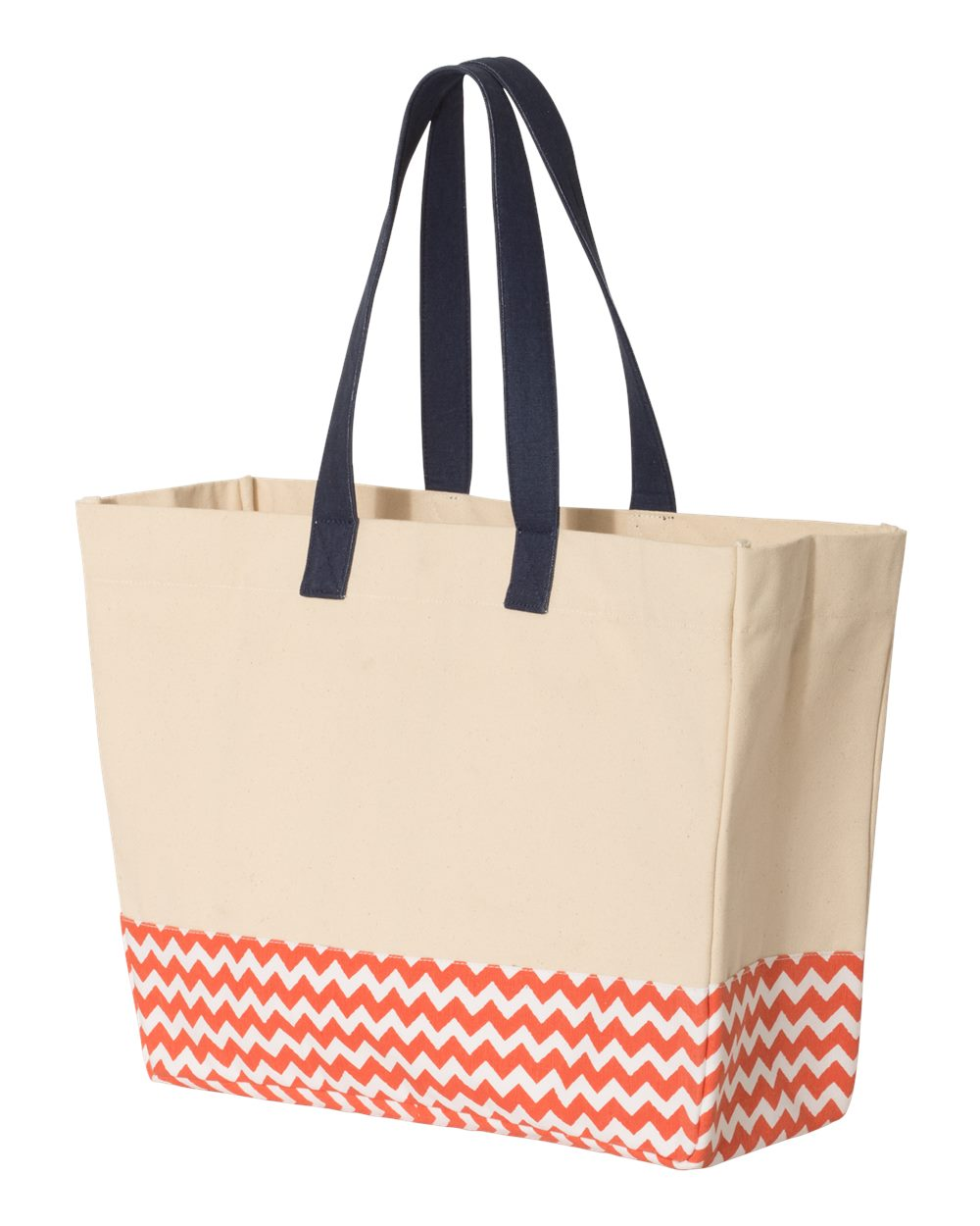 Brookson Bay BB100 - Patterned Bottom Beach Tote
