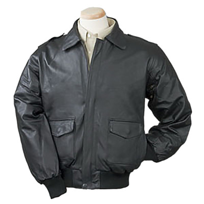 Burk's Bay BB100 - Men's Leather Napa Bomber Full-Zip Jacket