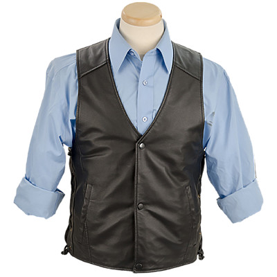 Burk's Bay BB0710 - Men's Leather Vest