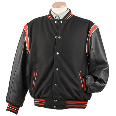 Burk's Bay BB5042 - Men's Reversible Wool Leather Jacket