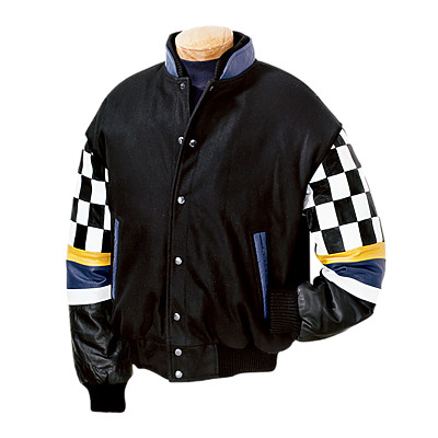 Burk's Bay BB509 - Men's Wool/Leather Checkered Racing ...