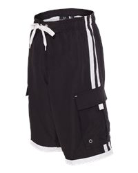 Burnside B4401 - Youth Striped Swim Trunks