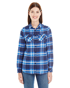 Burnside B5210 - Ladies' Plaid Boyfriend Flannel