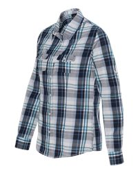 Burnside B5222 - Women's Long Sleeve Plaid Shirt