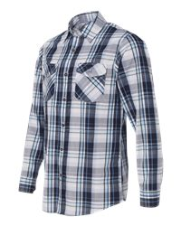 Burnside B8202 - Long Sleeve Plaid Shirt