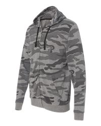 Burnside B8615 - Camo Full Zip Hooded Sweatshirt