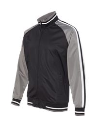 Burnside B8653 - Striped Sleeve Track Jacket