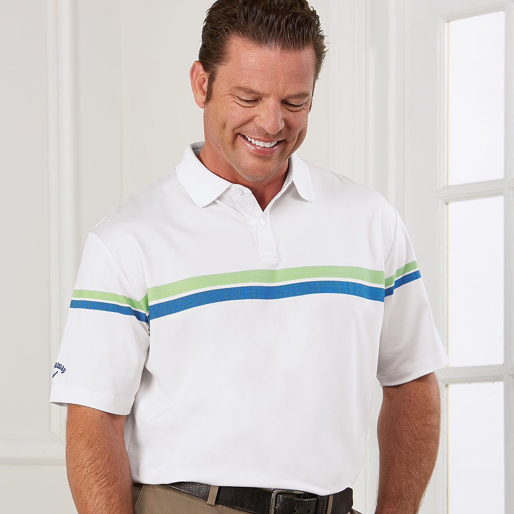 Callaway CGM590 - Men's Patterned Stripe Performance Polo