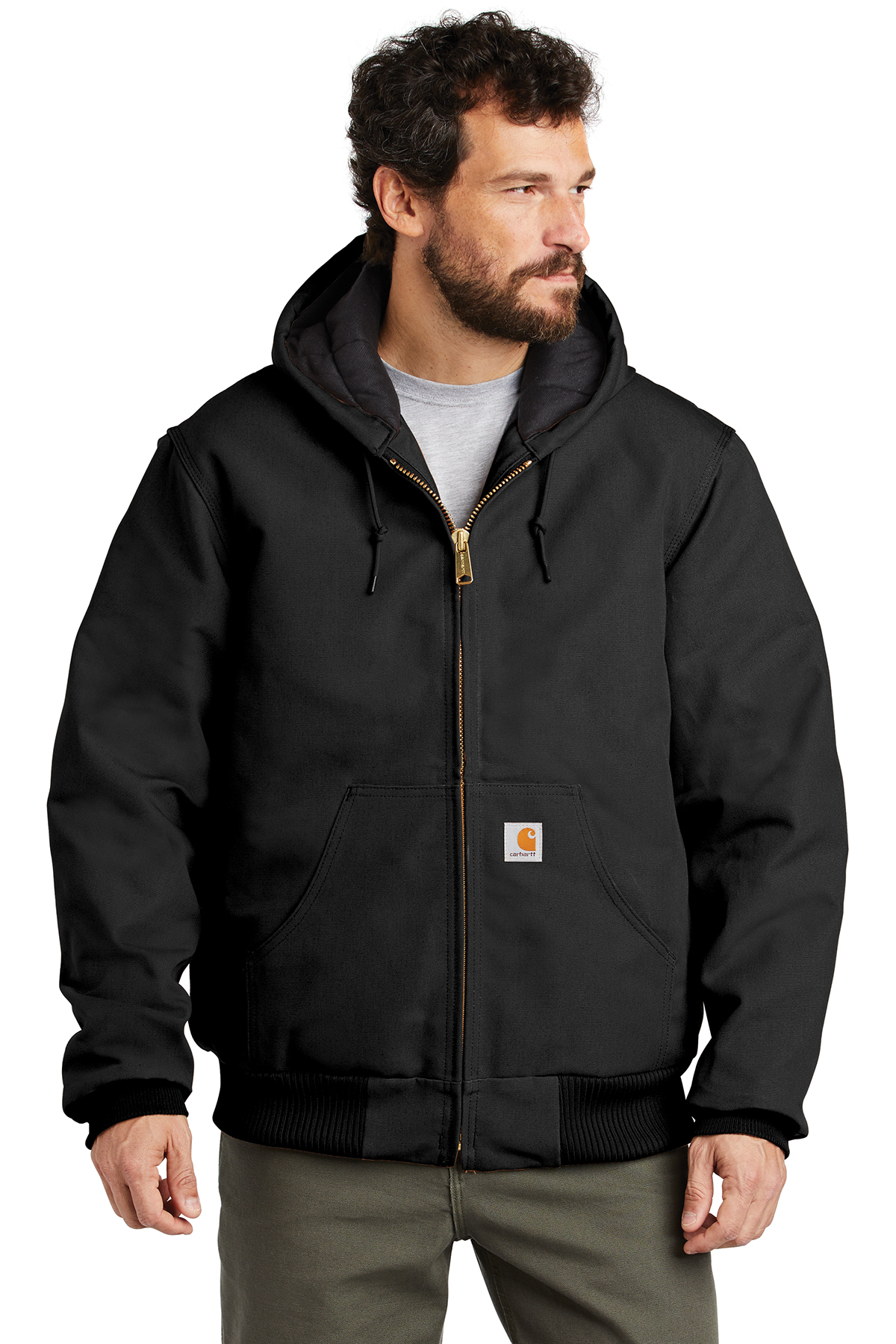 Carhartt® CTTSJ140 - Tall Quilted-Flannel-Lined Duck Active Jacket